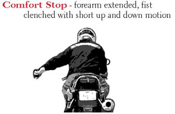 Hand signals for motorcycles