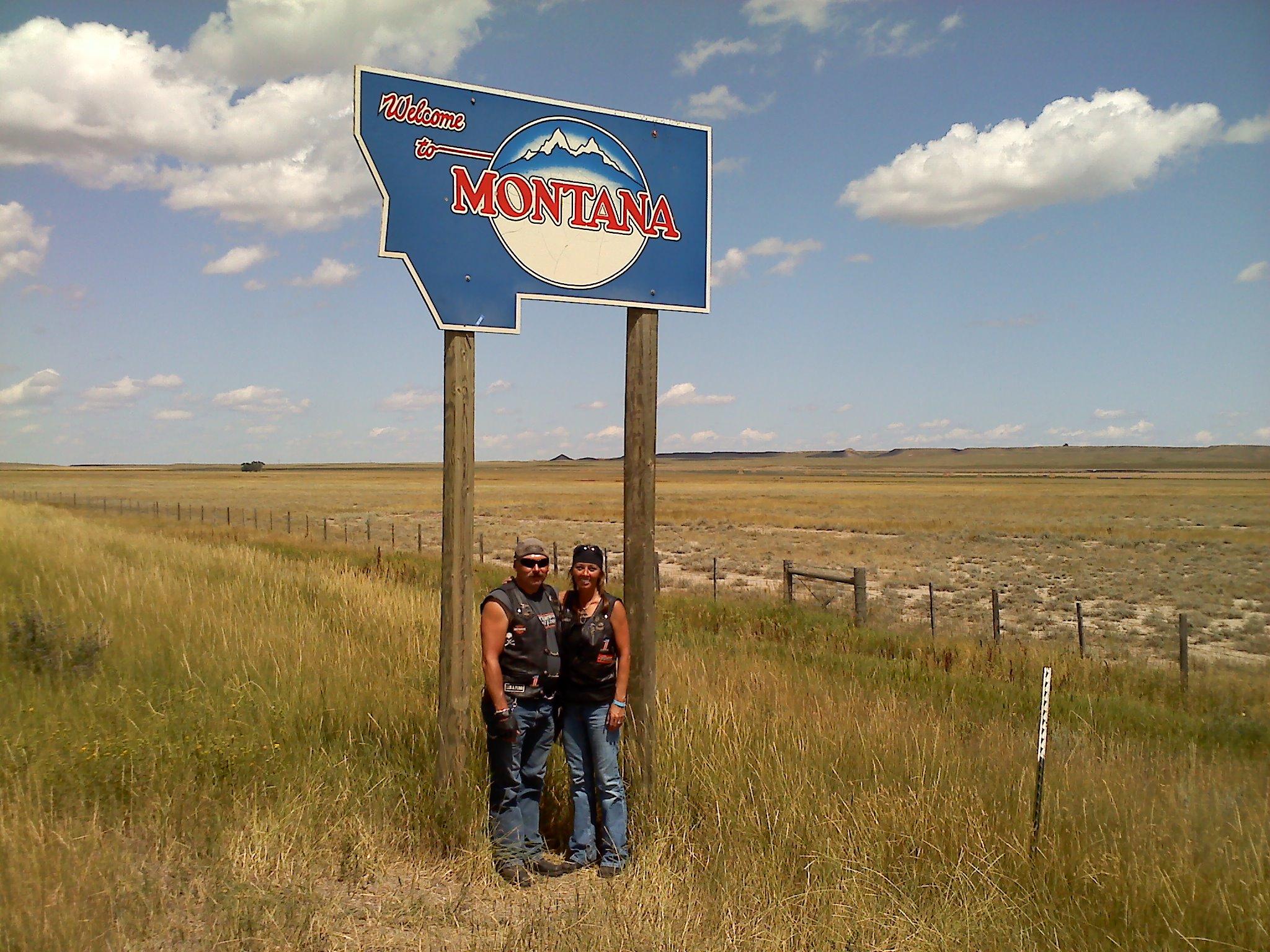 Montana state line